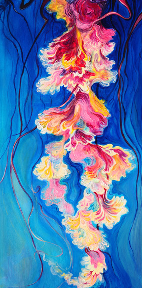 "Sea Blossom 2    oil on canvas   48"" x 24""  SOLD"