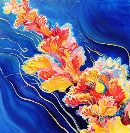 "Sea Blossom 1   oil on canvas  36"" x 36"""