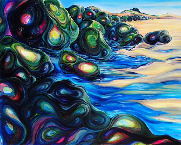 "Jetty's Edge at Herring Point   oil on canvas  48"" x 60"""