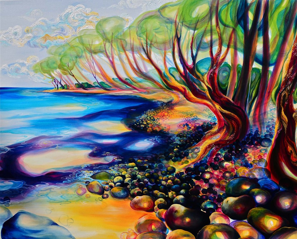 "Point Playa Guiones oil on canvas 48""x60"""
