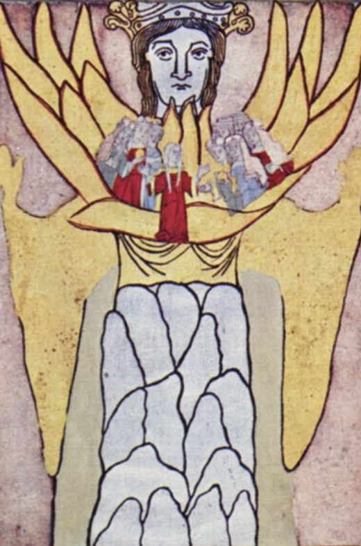 Hildegard of Bingen's vision of Ecclesia and Sophia.