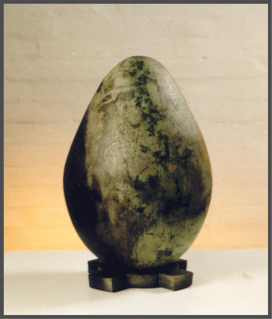 """Magpie Egg."" Saggar Fired. Stoneware.jpg"