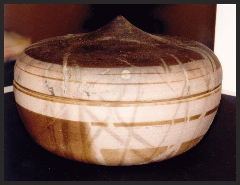 """Lidded Vessel"" Saggar Fired. Stoneware.jpg"