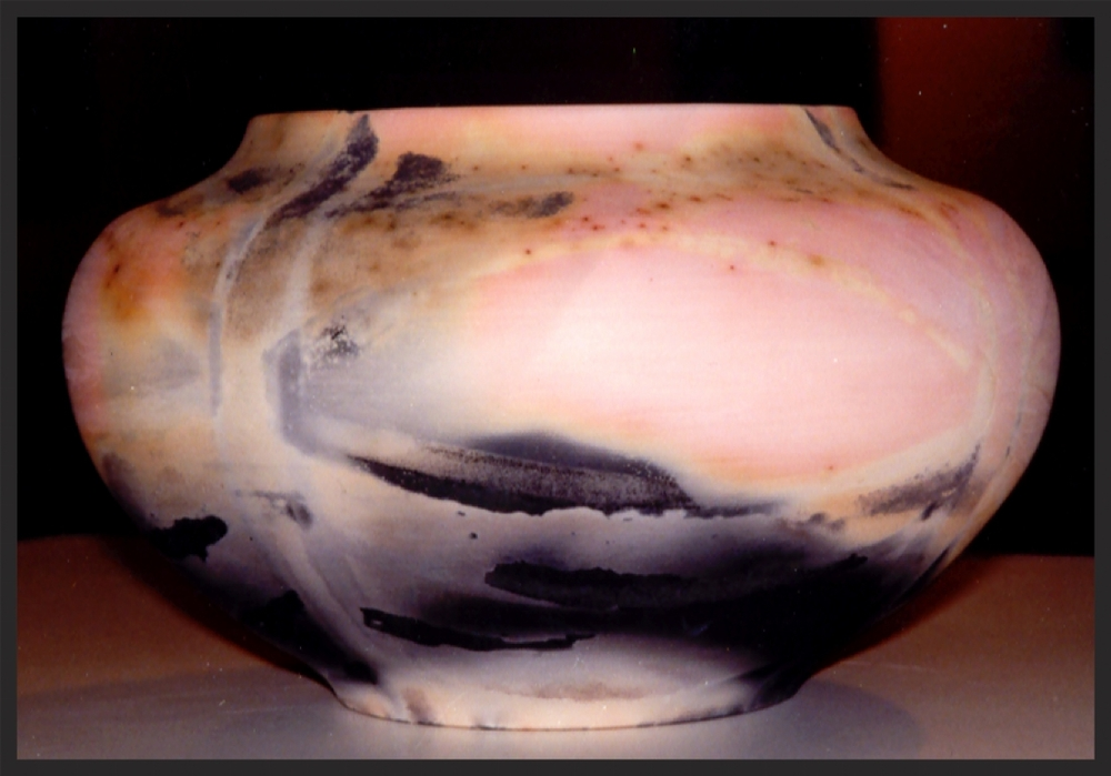 "Vessel"" Saggar Fired. Porcelain inlay.jpg"