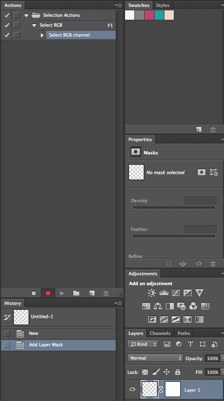 Layer Selection in Photoshop