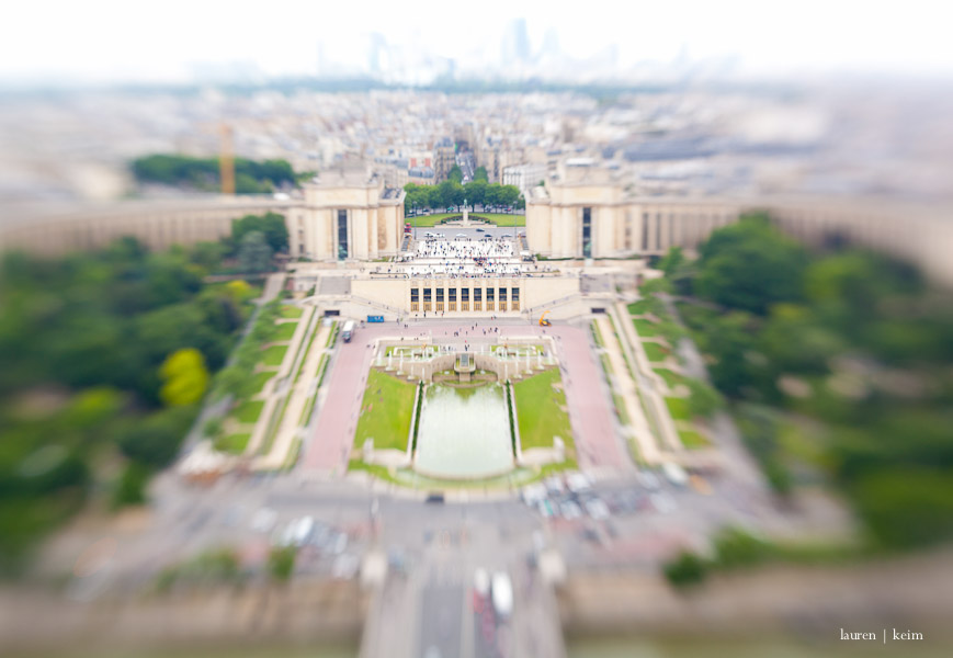 trocadero (view from the eiffel tower)