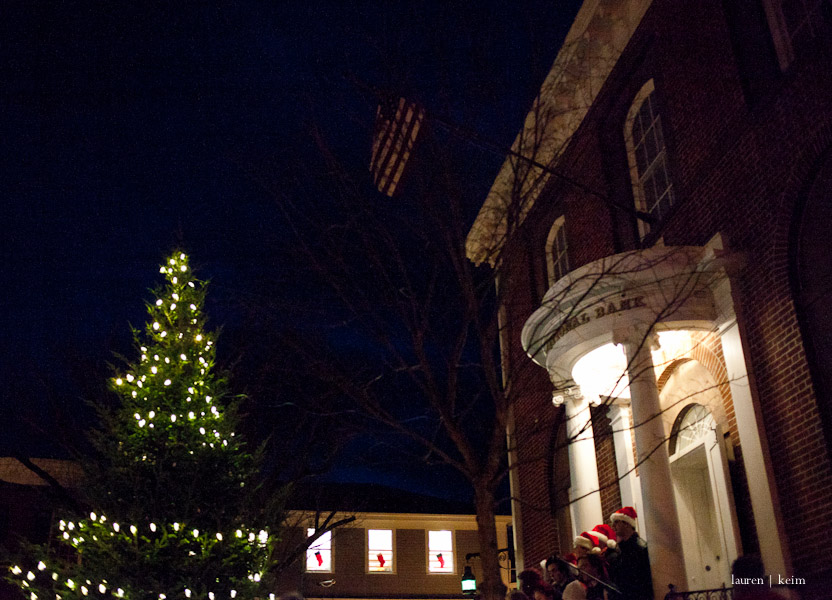 The annual day-after-Thanksgiving tree lighting in Nantucket.