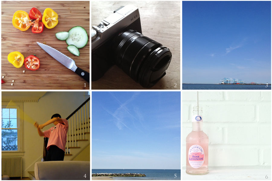 1. lunch these days | 2. new toy | 3. happy place | 4. someone's happy again | 5. also, happy place | 6. test shot
