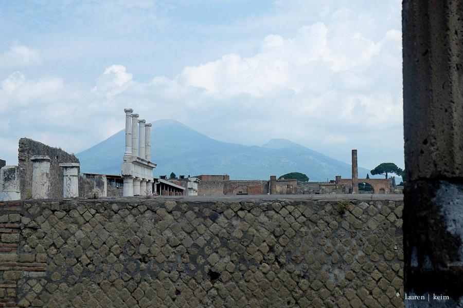 Pompeii with Vesuvius