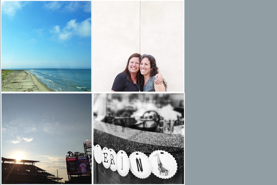 Row 1. Eastern Shore of Virginia | Old friends make the best friends; Row 2: Modern Colosseum | Celebrating Erin