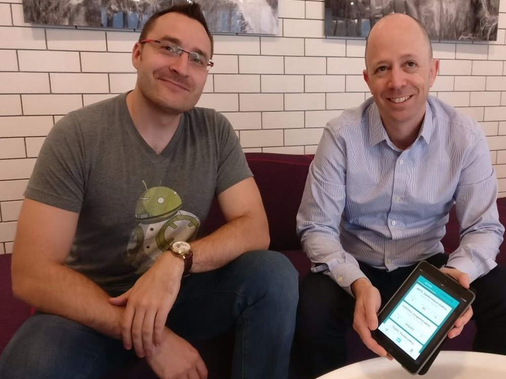 Dan Faszczyk (right) with Kolgene co-founder Yonatan Levin (left)