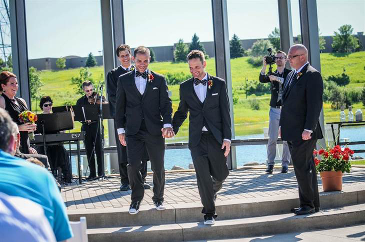 Married at last!  Photo credit:  Coppersmith Photography.