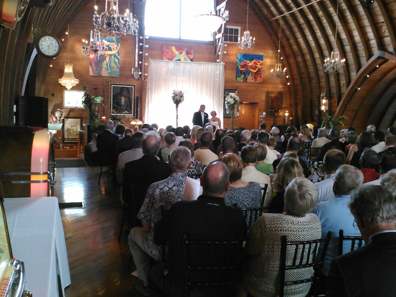 Wedding Ceremony at Green Acres Barn