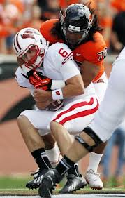 Danny O'Brien getting sacked against Oregon State.