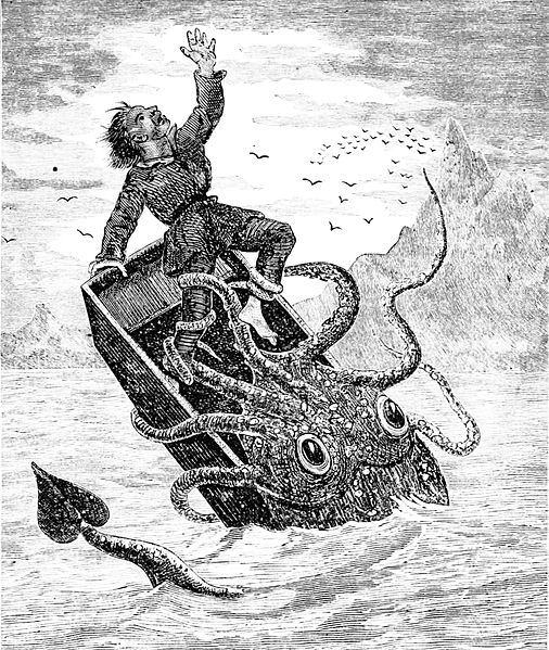 A great analogy for the Badgers' season. Bielema is the guy in the boat getting sucked down by the giant squid of indecision. Wait, check that. Bielema is the squid and the Badgers' season is represented by the guy in the boat. Wait...that doesn't make sense either does it? Ah, screw it, I just wanted a picture of a giant squid, OK?