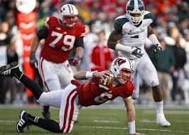 Danny O'Brien stumbling against Michigan State. Basically a metaphor for how he played as a starter.