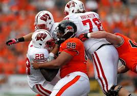 Wisconsin's offensive line was not the dominant force it has been under the tutelage of former coach Bob Bostad