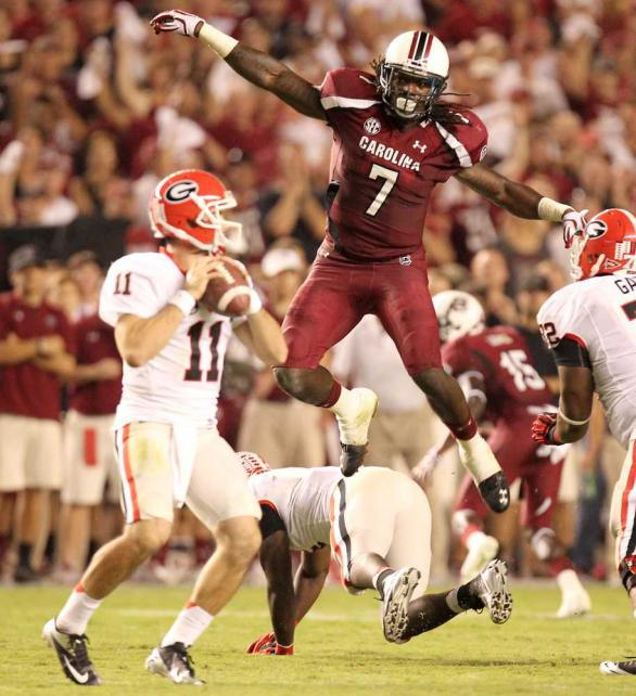 Clowney will look to disrupt the Badger backfield