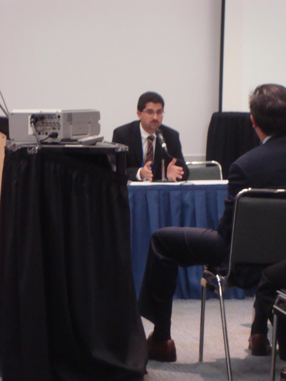 Juan Zepeda at the Entrepreneurial Panel at a SHPE National Conference in Anaheim