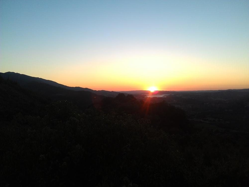 Sunset over Cachuma Lake, California