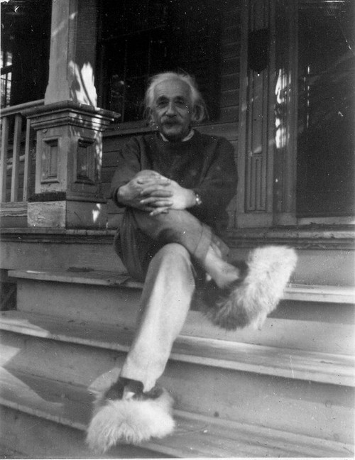 Albert Einstein in fluffy slippers..jpg