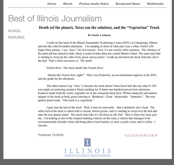 Best of Illinois Journalism October 28, 2009