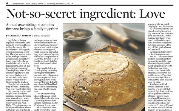 Chicago Tribune December 12, 2012