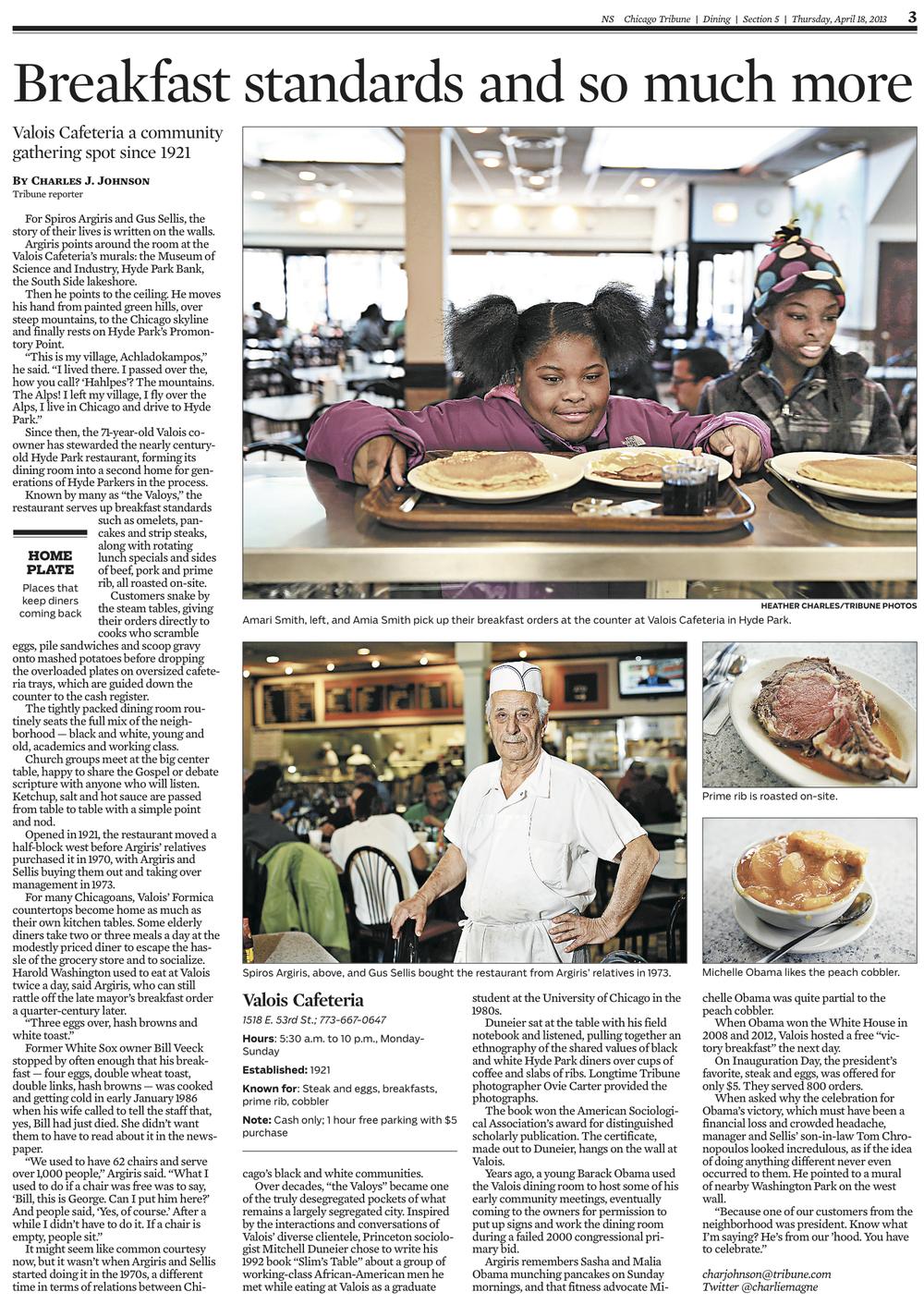 Chicago Tribune April 18, 2013