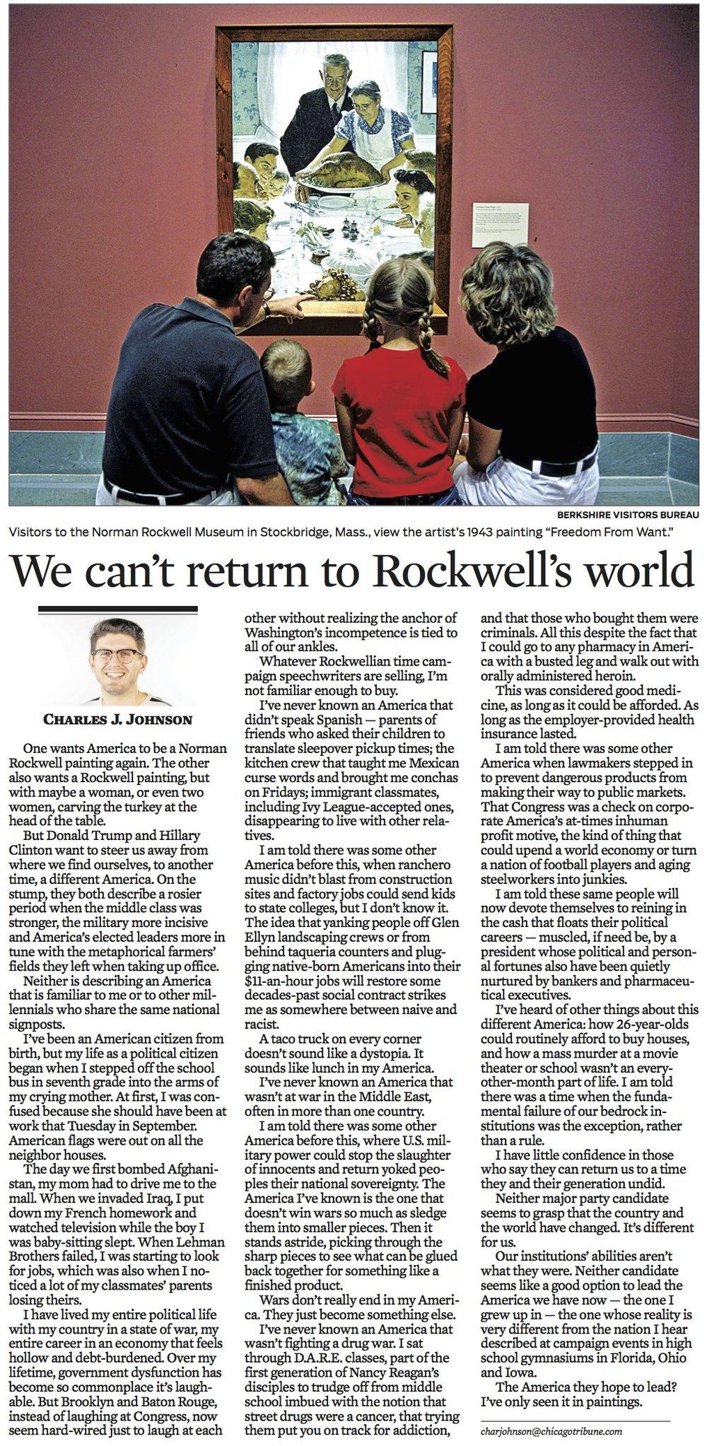 Chicago Tribune Sept. 25, 2016