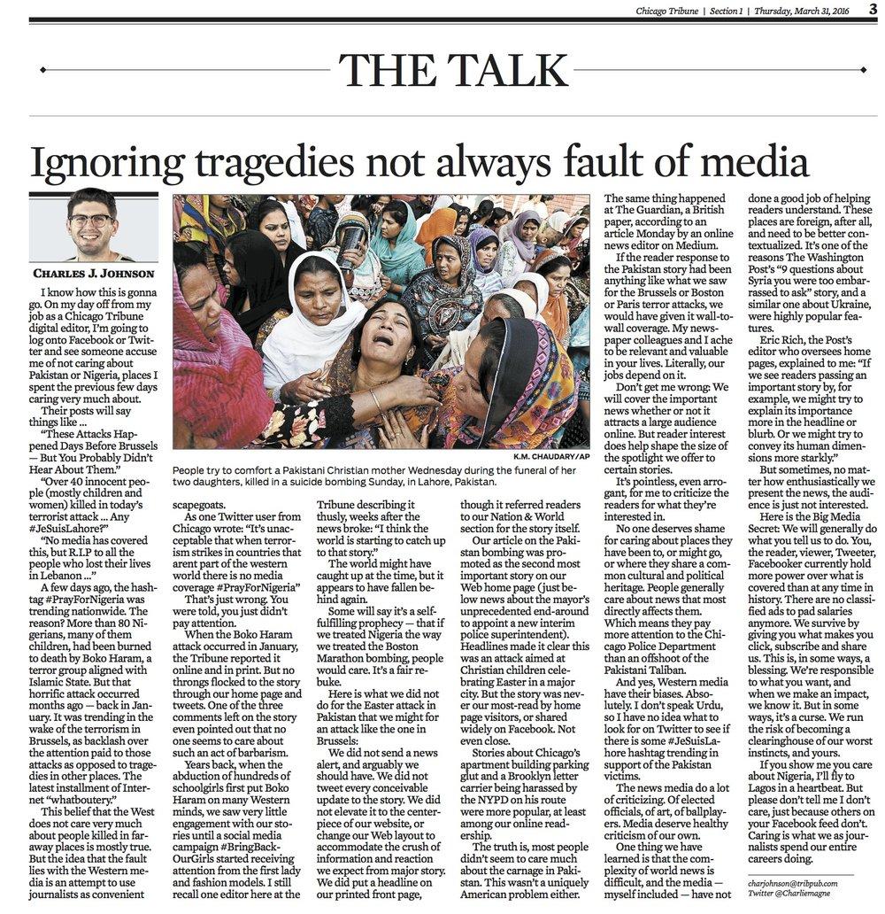 Chicago Tribune March 30, 2016