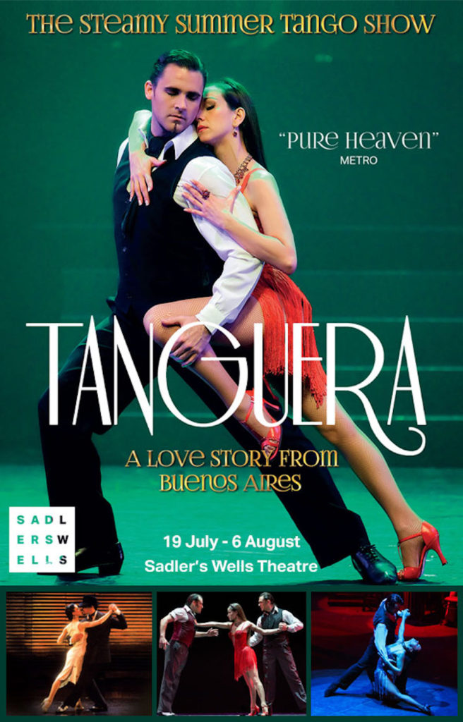 One of the posters currently around London advertising the show at  Sadler's Wells .
