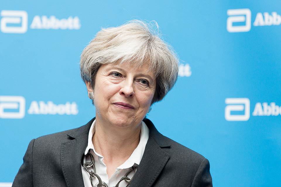 Theresa May constituency visit to Abbott's UK headquarters. Abbott is a global healthcare company; Mrs May saw their innovations in Diabetes care, nutrition & diagnostics. For further details contact Fiona Lloyd 07780 955718 / fiona.lloyd@abbott.com