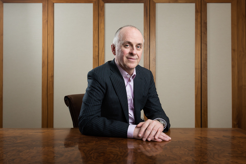 Belmond CFO Martin O'Grady, photographed for  Economia  magazine (and below).