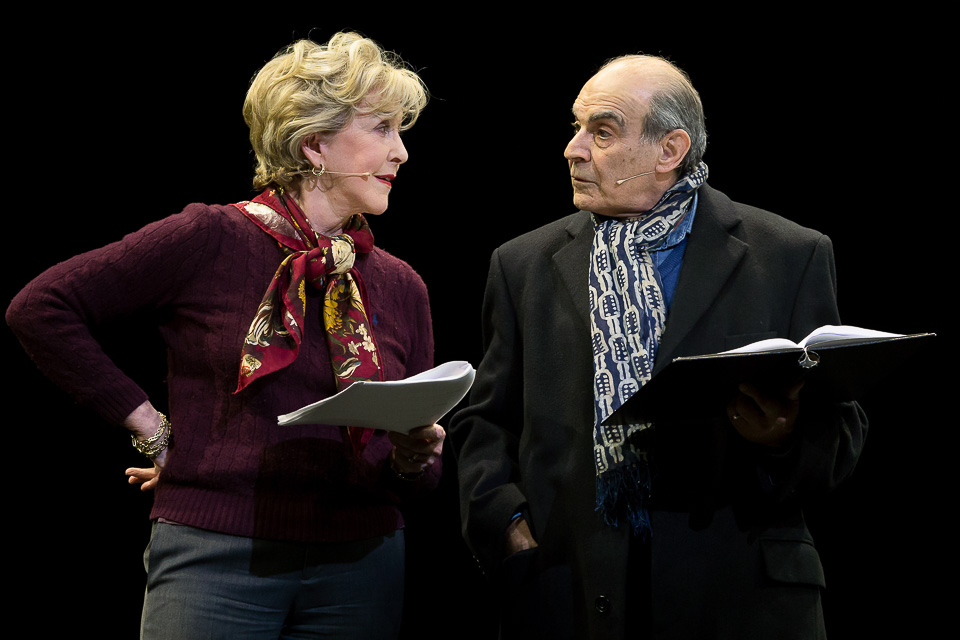 Patricia Hodge and David Suchet at a fundraising gala for  Mousetrap Theatre Projects.