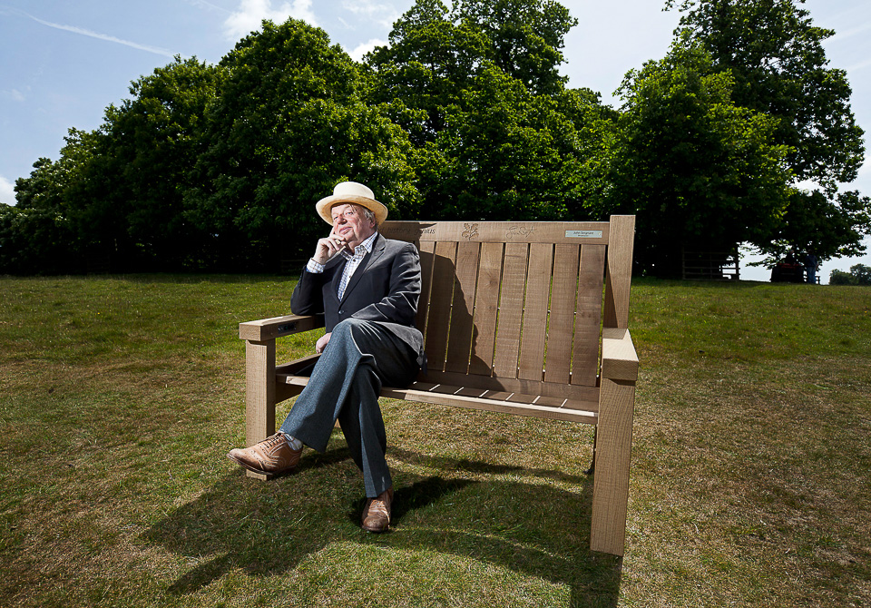 Broadcaster John Sergeant has made a recording for an 'audio bench' at the National Trust property, Petworth House, in Sussex.  Several other public figures have also made recordings for other locations.