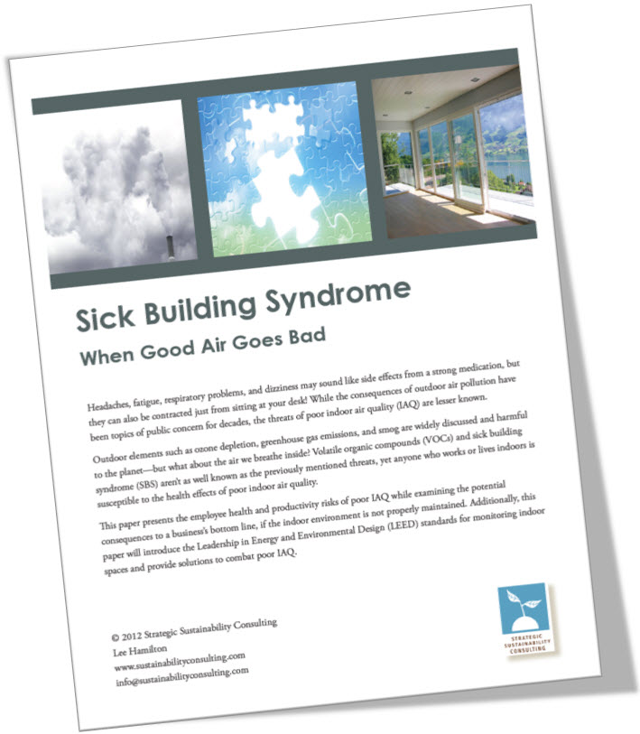 sick building syndrome research paper This is an open-access article distributed under the terms of the  (2013) sick  building syndrome by indoor air pollution in dalian, china.