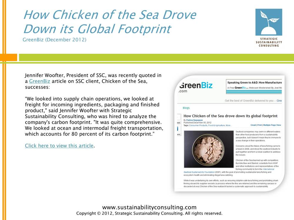 How Chicken of the Sea Drove Down its Global Footprint