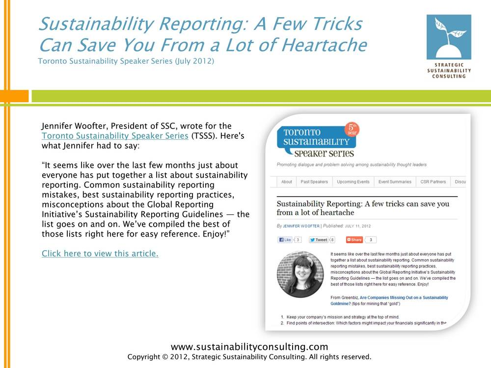 Sustainability Reporting: A Few Tricks Can Save You From a Lot of Heartache