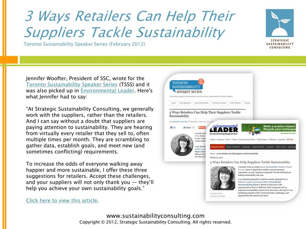 3 Ways Retailers Can Help Their Suppliers Tackle Sustainability