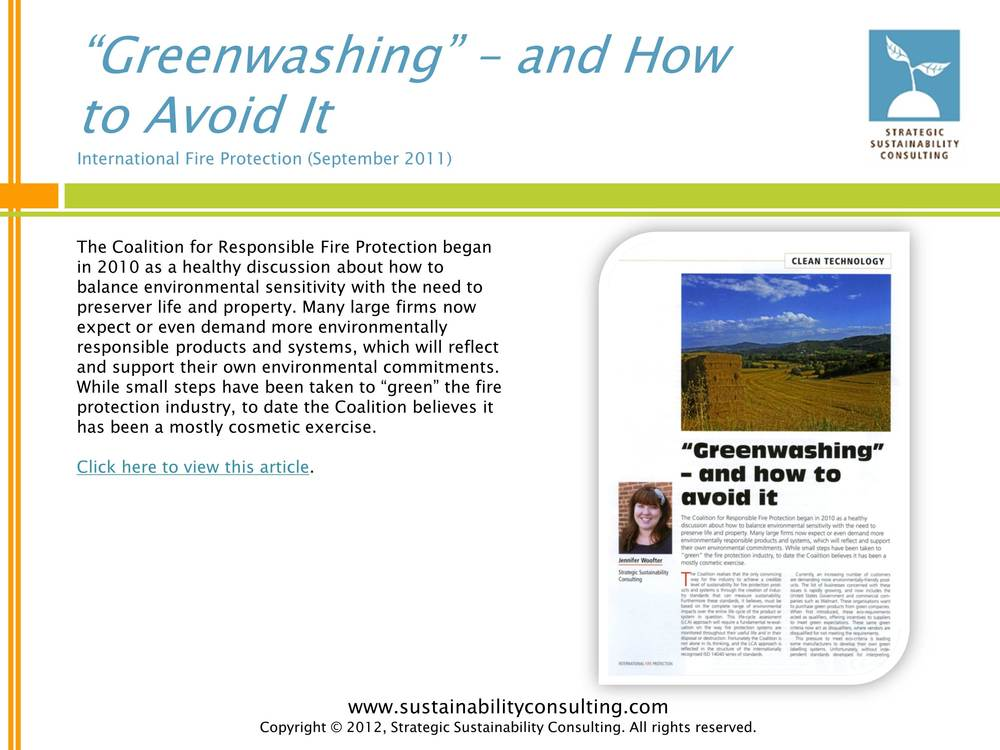 """Greenwashing"" - and How to Avoid It"