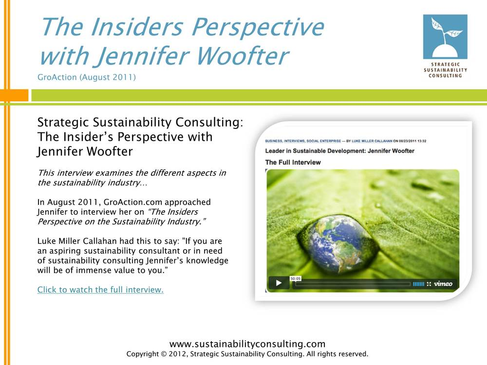 The Insiders Perspective with Jennifer Woofter