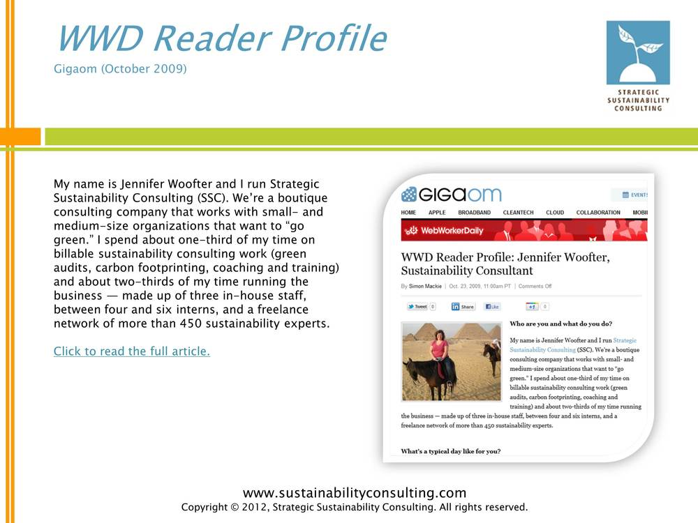 WWD Reader Profile