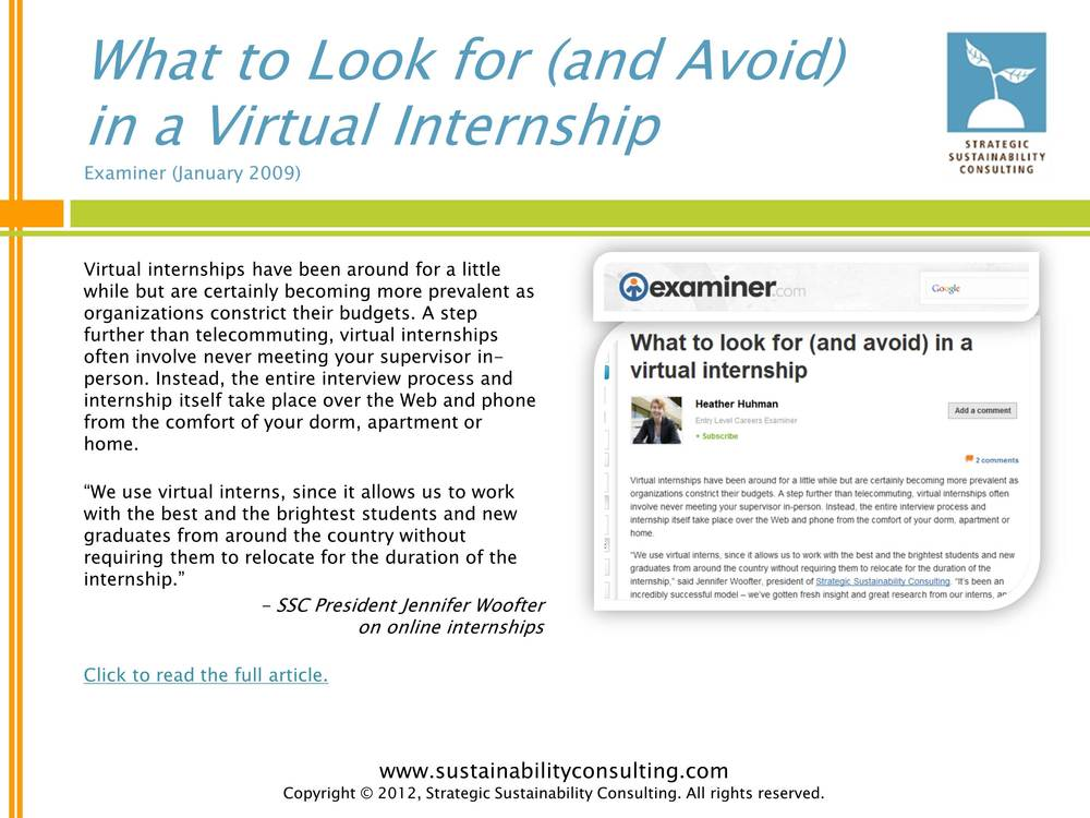 What to Look for (and Avoid) in a Virtual Internship