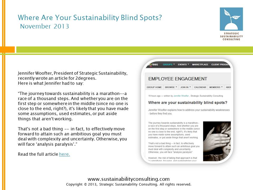 Where are Your Sustainability Blind Spots?