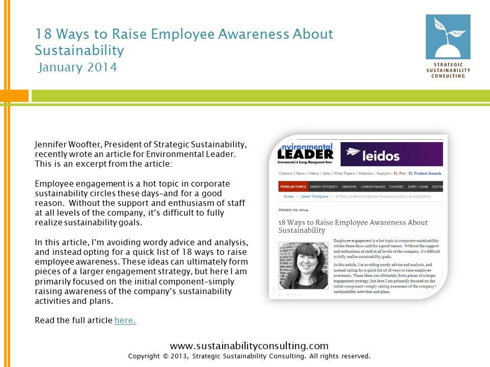 18 Ways to Raise Employee Awareness About Sustainability
