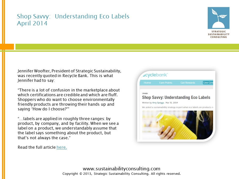 Shop Savvy:  Understanding Eco Labels