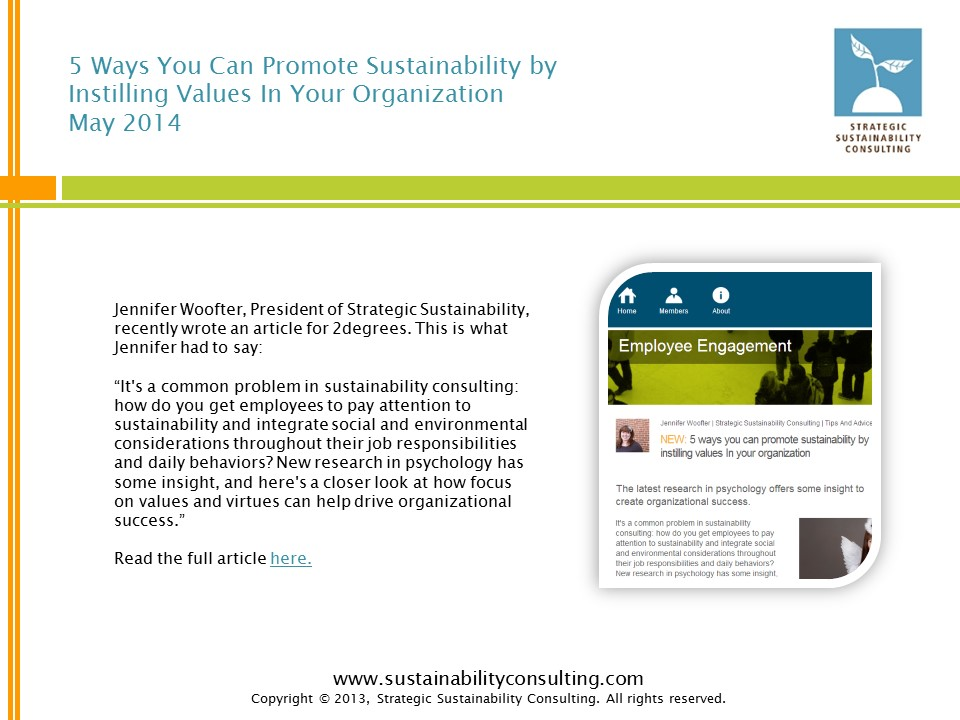 5 Ways You Can Promote Sustainability by  Instilling Values In Your Organization