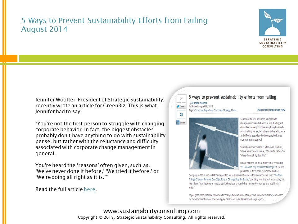 5 Ways to Prevent Sustainability Efforts from Failing