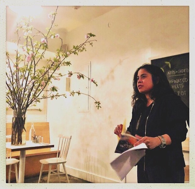 This past week I was charmed beyond belief at The Tables of Contents reading at Egg in Brooklyn. Chef Evan created bites of food in conversation with my work and the work of the fabulous Naima Coster & Lauren Grodstein. Power of generosity, of food and literature in conversation. ⠀⠀⠀⠀⠀⠀⠀⠀⠀ This is when NYC feels and tastes magical. ⠀⠀⠀⠀⠀⠀⠀⠀⠀ ⠀⠀⠀⠀⠀⠀⠀⠀⠀ @tables.of.contents @afternoonmoon @eggrestaurant ⠀⠀⠀⠀⠀⠀⠀⠀⠀ #charmedforever #books #brilliance #allthefeels #nycmagic #delish @naimacoster @laurengrodstein