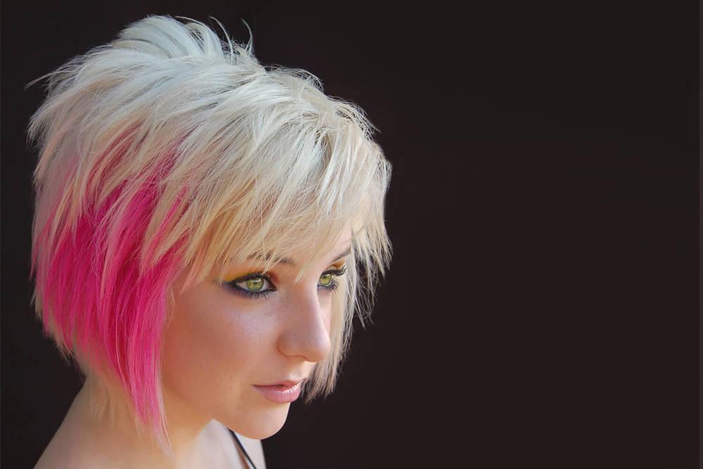 Platinum Hair with Pink - KEITH KRISTOFER SALON